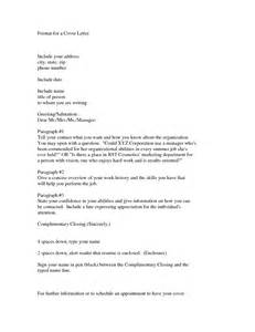Format Of Cover Letter For A by News Letter Format Best Template Collection