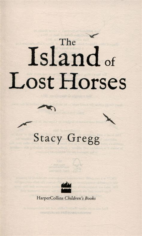 Island Of Lost Horses by The Island Of Lost Horses By Gregg 9780007580279