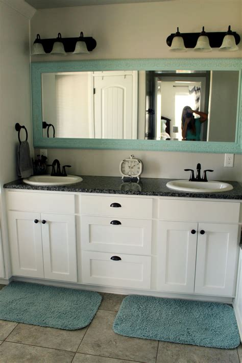 Aqua Bathroom Vanity by A Spa Like Master Bathroom Aqua Design