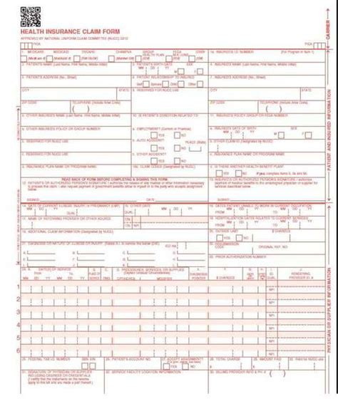 New Hcfa Form Pictures To Pin On Pinterest Pinsdaddy Cms 1500 Version 02 12 Template