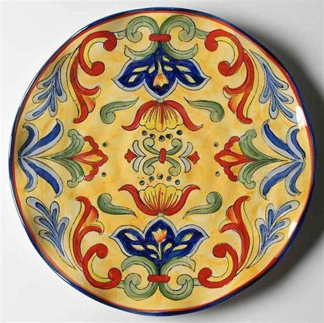 mexican dinnerware talavera dinner plates q squared talavera in azul bpa free melamine dinner plate 10 1 2 inches