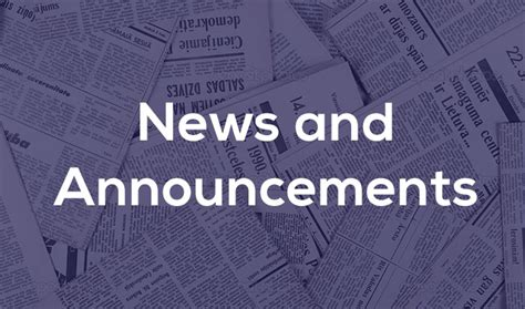 News And Updates by Weekly News And Announcements