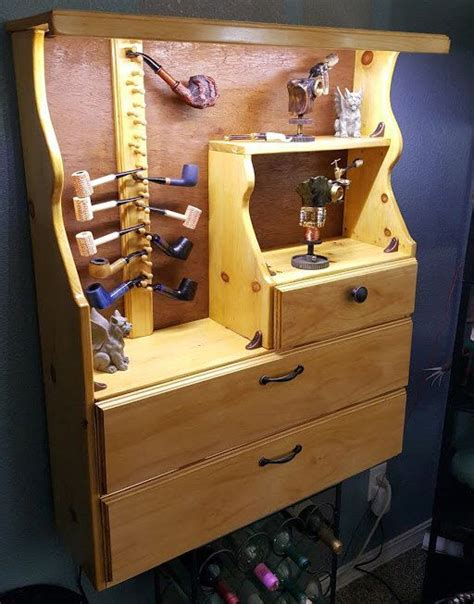 Pipe Cabinet by 18 Pipe Handmade Lighted Tobacco Pipe Rack Cabinet