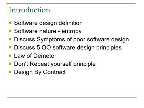 software design pattern definition the oo design principles