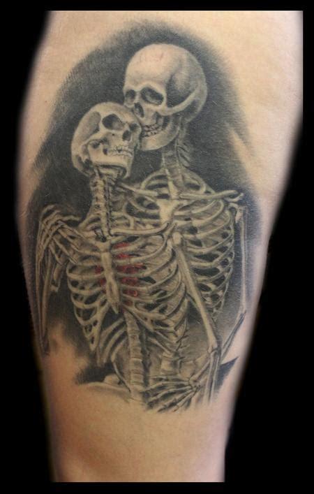 skeleton couple tattoo powerline tattoos skeletons in