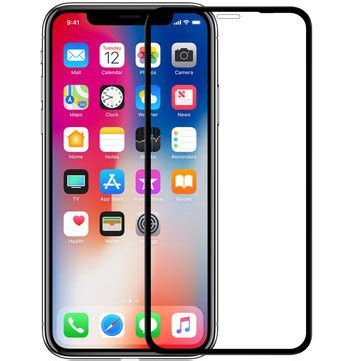 nillkin screen protector for iphone xs max nanometer whole curved edge anti fingerprint