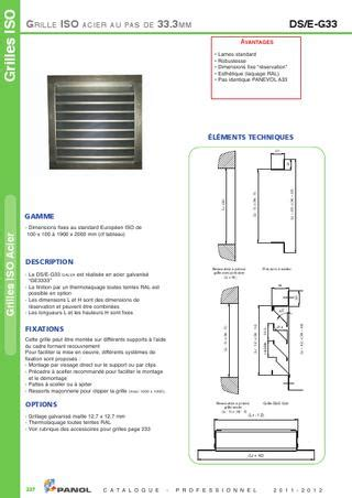 Grille Panol by Panol Catalogue Professionnel 2011 2012 By Marc Issuu
