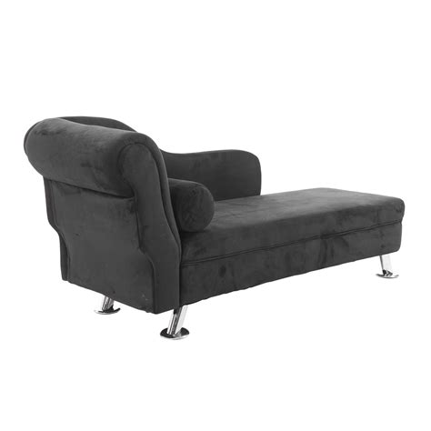 home goods chaise lounge homcom 62 quot plush chaise lounge chair black chairs