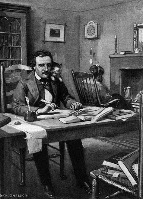 Write Here The Biography Of Edgar Allan Poe   edgar allan poe at work