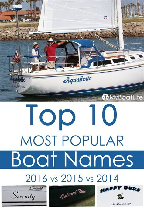 best yacht names is your favorite boat name on the list boatus shares