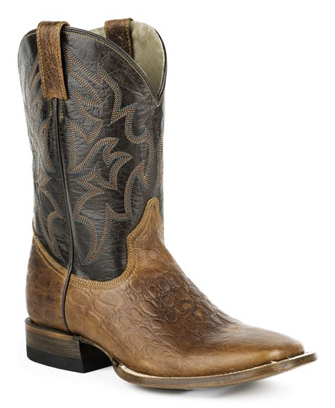 roper sea turtle print tall cowboy boots square toe