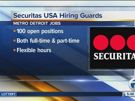 Securitas Background Check Securitas Hiring 100 Guards In Metro Detroit Wxyz