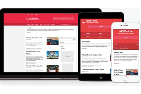 drupal themes news portal news lite a free drupal 8 theme to power your news
