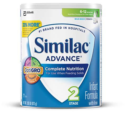 Similac Advance similac advance stage 2 baby formula with optigro