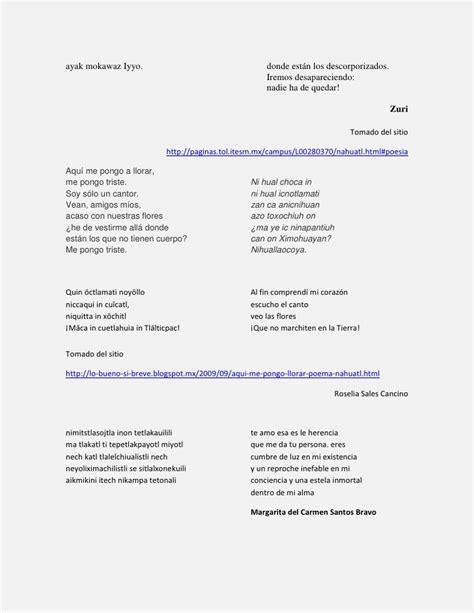 poema en nahuatl y su traduccion newhairstylesformen2014 com lenguas indigenas en poemas poemas indigenas poemas en