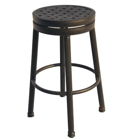 Patio Bar Stools by Darlee Cast Aluminum Patio Backless Counter Height