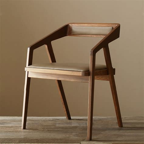 Wood Restaurant Chairs by American Country Retro Creative Fashion Solid Wood