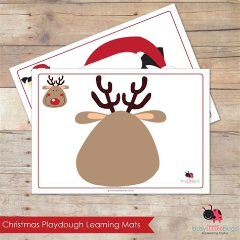 printable christmas playdough mats printable playdough learning mats from busy little bugs