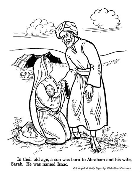 abraham and sarah old testament coloring pages bible