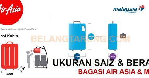 air asia harga bagasi ukuran saiz dan berat bagasi penumpang airasia malaysia