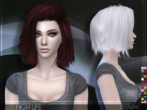 pretty sims cc hairstyles short stealthic high life female hair