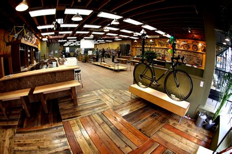 bike workshop ideas velo cult bike shop portland love the floors and open