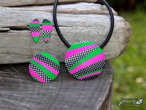 Handmade Jewelry Sets - handmade polymer clay jewelry sets 27