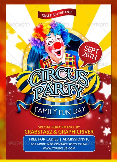Circus Flyer Template by 14 Circus Flyer Templates Free Premium Templates