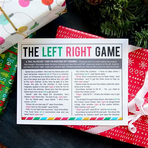 right left christmas party story the left right w printable story it s always autumn