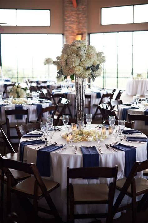 black blue and silver table settings 45 gorgeous navy and silver wedding ideas happywedd com