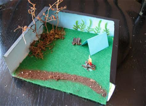 How To Make A Paper Diorama - c diorama box family crafts