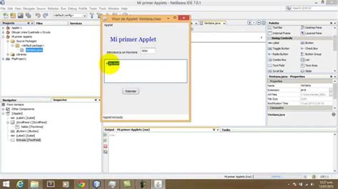 tutorial java applet netbeans tutorial mi primer applet en netbeans youtube
