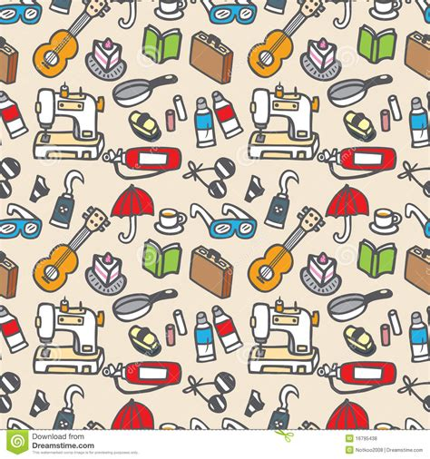 design pattern to create objects seamless cute object pattern royalty free stock photos