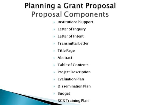 Institutional Support Letter Grant Grant Writing Workshop Ppt