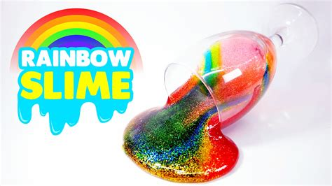 Clear Galaxy Slime By E C S how to make rainbow glitter slime thank you for