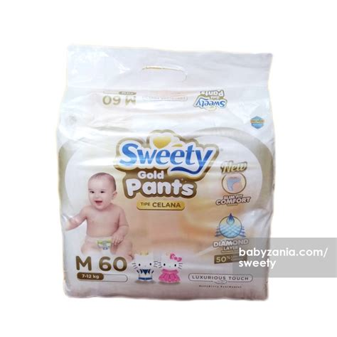 Sweety Fit Pantz Celana M Isi 60 jual murah sweety popok bayi pantz royal gold m 60 new