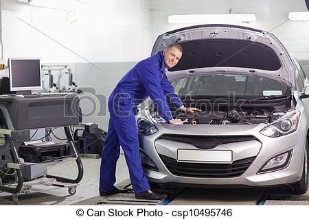 Auto Mechaniker by Motor Automechaniker Lehnend Motor Auto Lehnend
