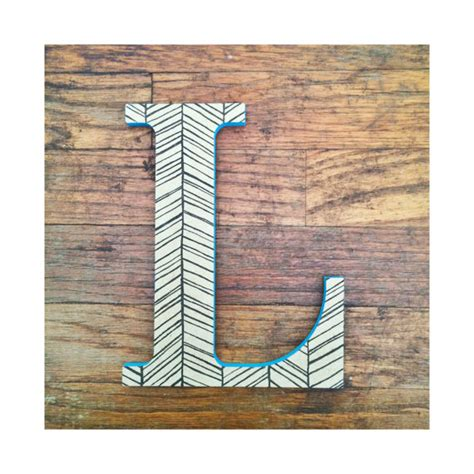 Wooden Hanging L by Hanging Wooden Letter L Decorative Wall Letter L Herringbone