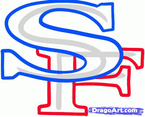 Drawing 49ers Logo by How To Draw The 49ers San Francisco 49ers Step By Step