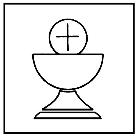 chalice template chalice and host colouring pages kids