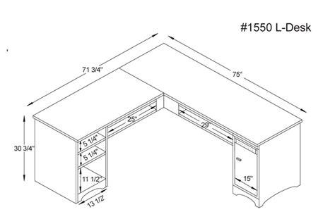desk measurements woodbury l desk ohio hardwood furniture