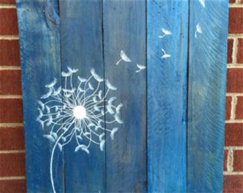 diy pallet wall art dandelion pallets designs