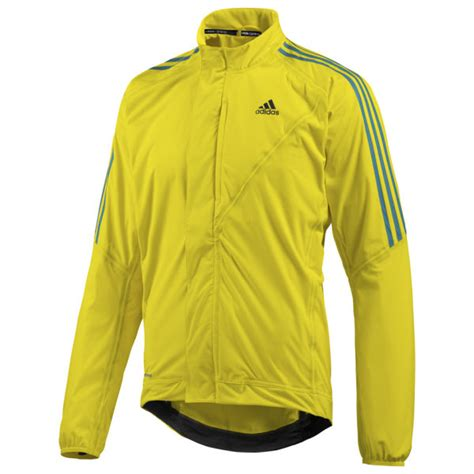 Adidas Tour Rain Jacket Yellow Black Probikekit Uk