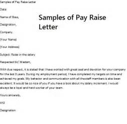 pay raise request template sle of pay raise letter