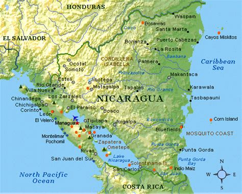 physical map of nicaragua wd mission s news and reviews adopt a window or door w