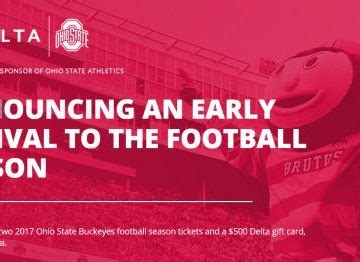Delta Sweepstakes - delta buckeyes season ticket sweepstakes