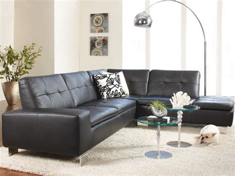 Francesca Leather Sectional For The Home Pinterest