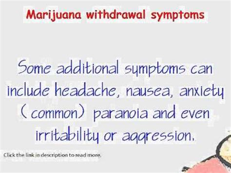 Cannabis Detox Symptoms by Marijuana Withdrawal Symptoms You Must See It