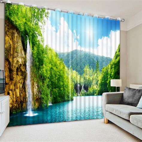 nature pattern window curtains custom any size nature scenery 3d curtains blackout
