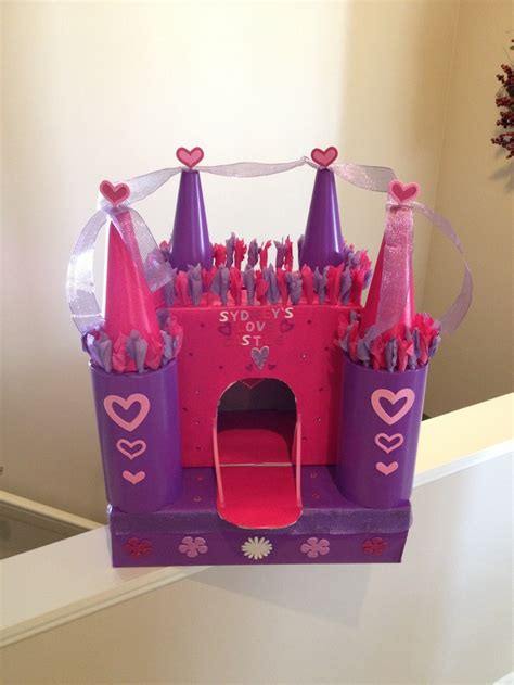 valentines box castle card slot on top of box will u